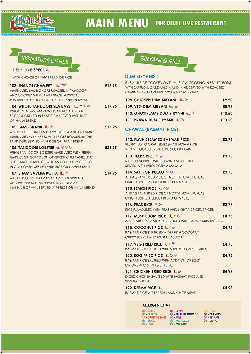 Delhi Live - Take Away Menu A3 copy